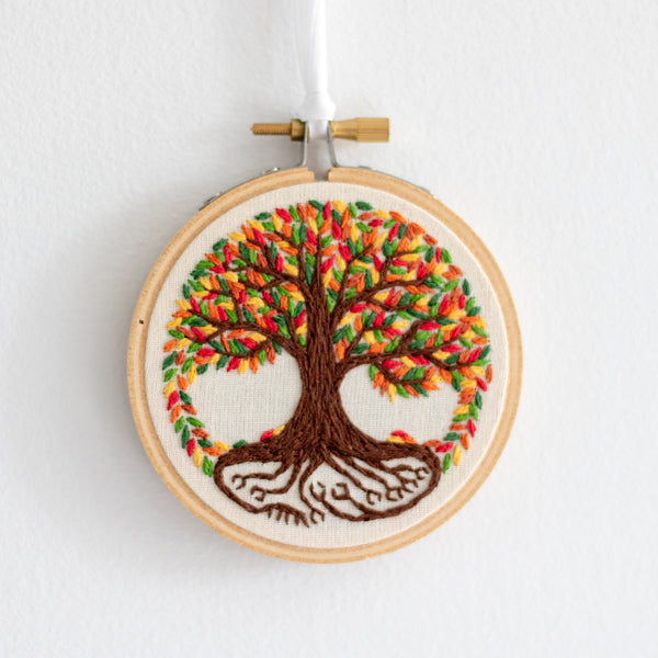 Tree of Life Embroidery - Fall Leaves
