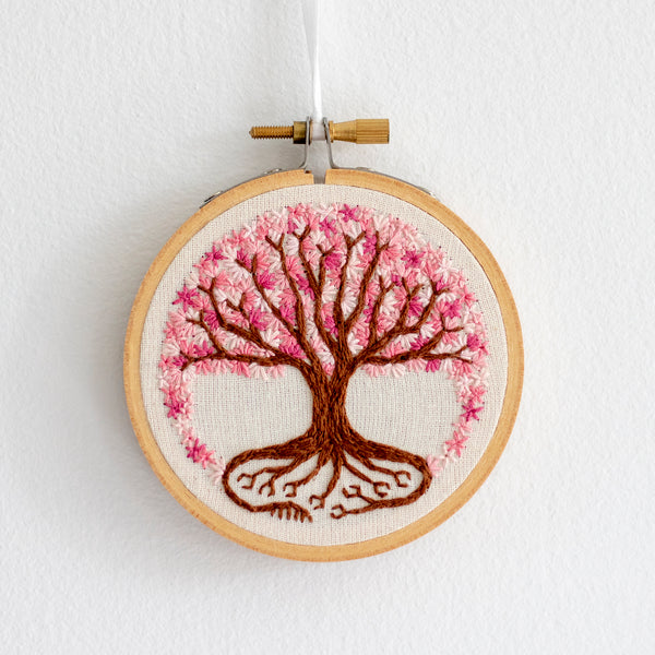 Tree of Life Embroidery - Blossoms