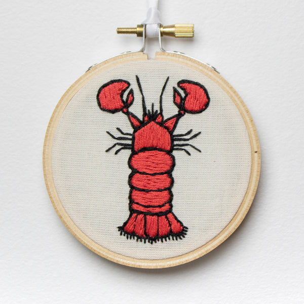 Lobster Embroidery