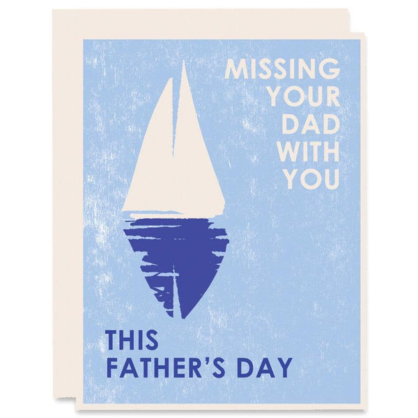 Missing Your Dad With You Card
