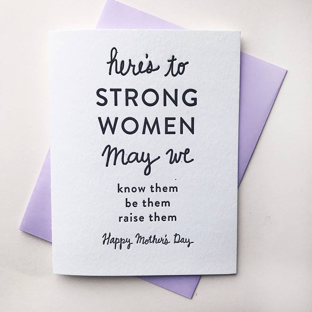 Strong Mother's Card