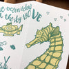 Seahorse Fold Out Love Card
