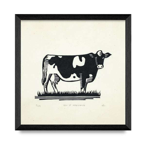 Cow Of Merigomish 7.5 x 7.5 Print