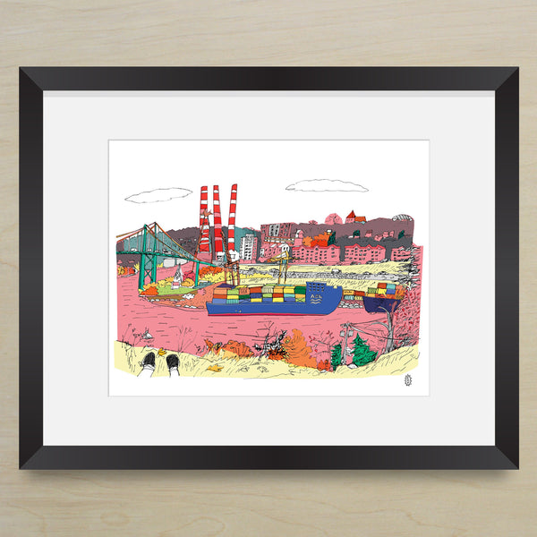 Pink Harbour Print