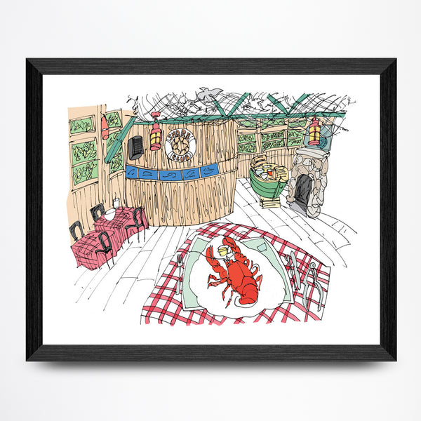 Lobsters at the Shore Club Print
