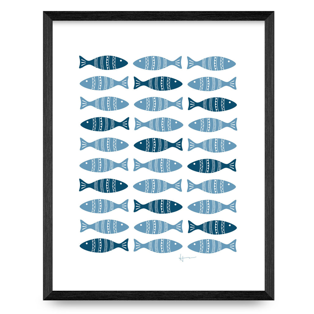 Fish & Salt Water 11x14 Print