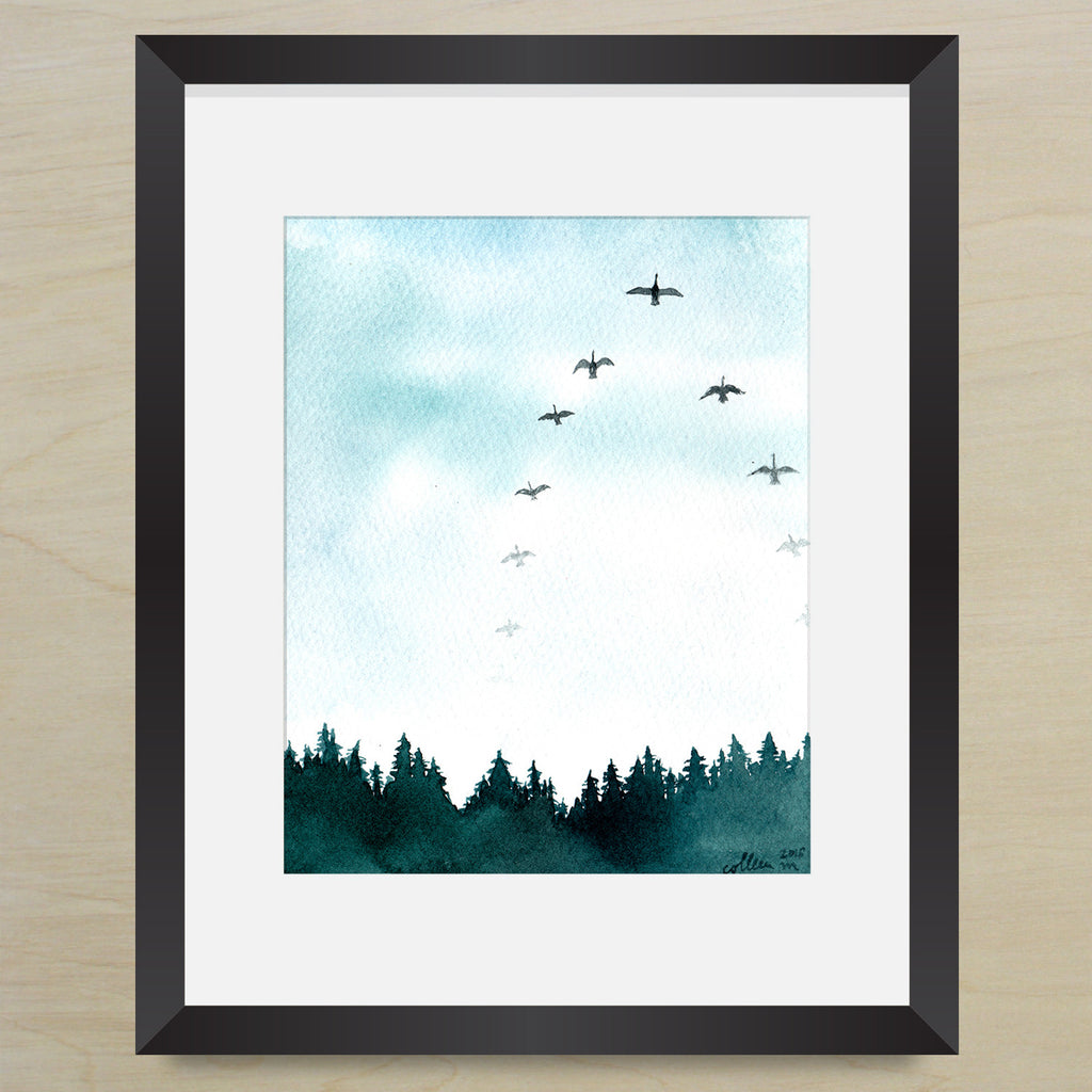 Flock of Birds Print