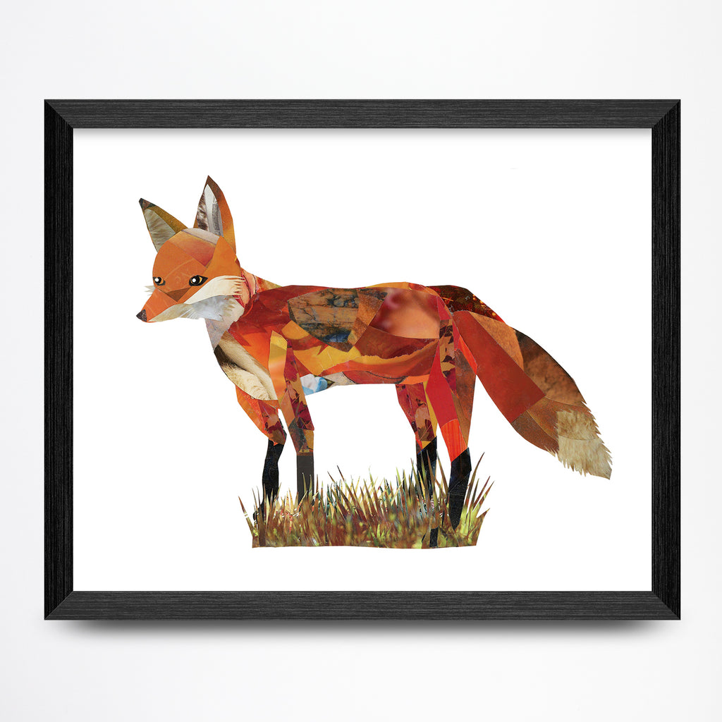 Fox Collage 11x8.5 Print