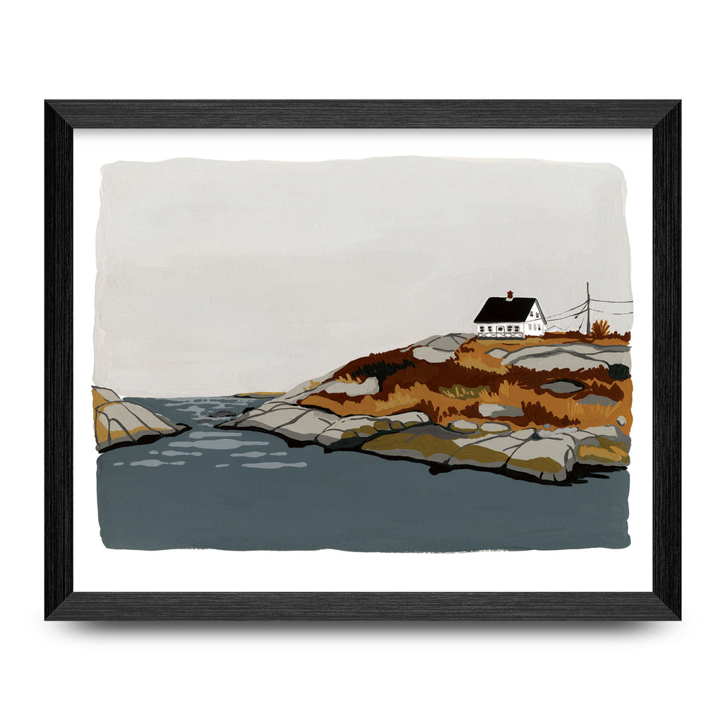 House By The Shore 8x10 Print