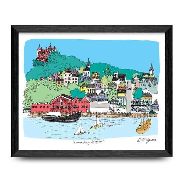 Lunenburg Harbour 11x8.5 Print