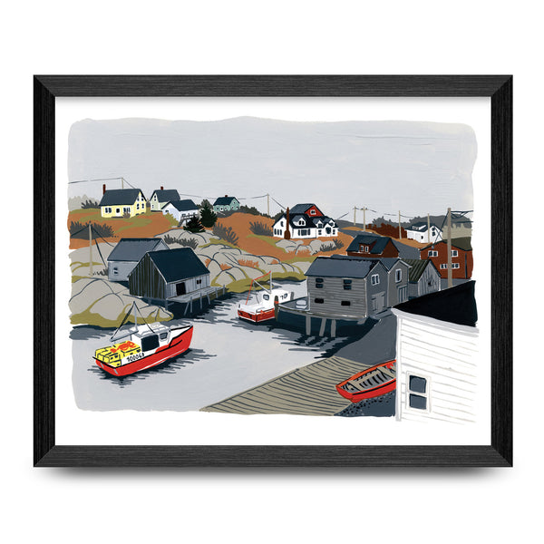 Lobster Boats 11x14 Print