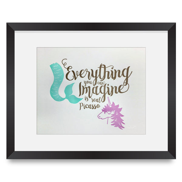 Unicorn & Mermaid Imagine Print