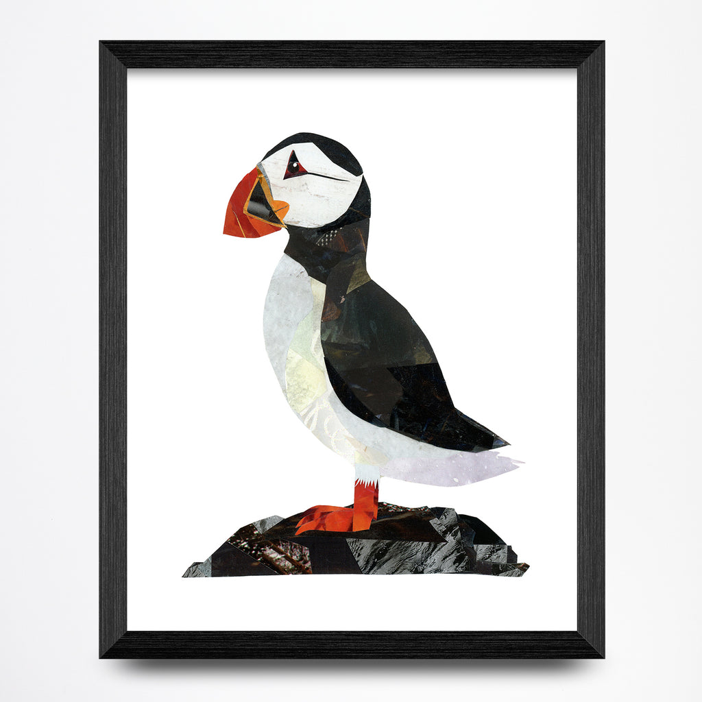 Puffin Collage 8.5x11 Print