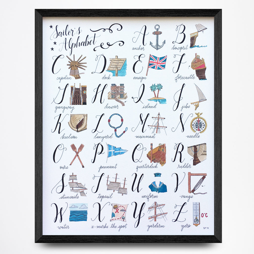 Sailor's Alphabet Print
