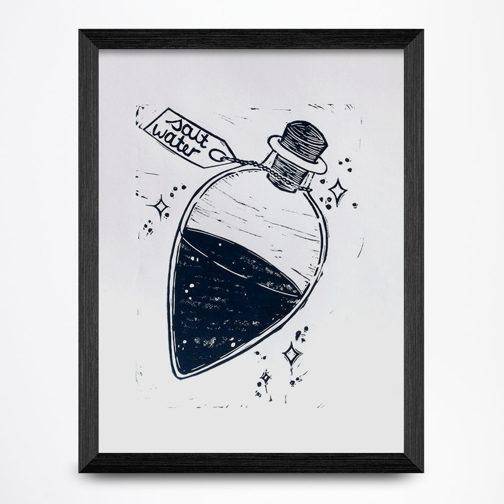 Salt Water Vial 8.5x11 Print
