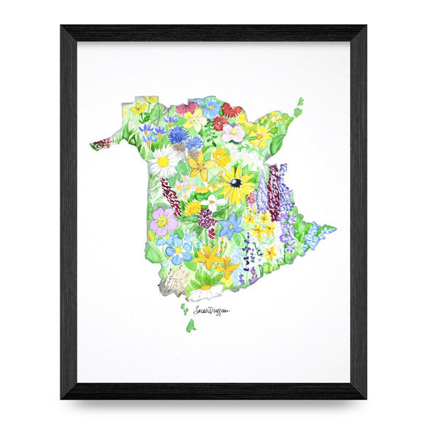 New Brunswick Wildflowers 8x10 Print