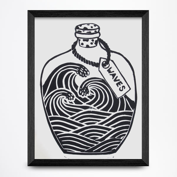 Waves in a Bottle 8x10 Print