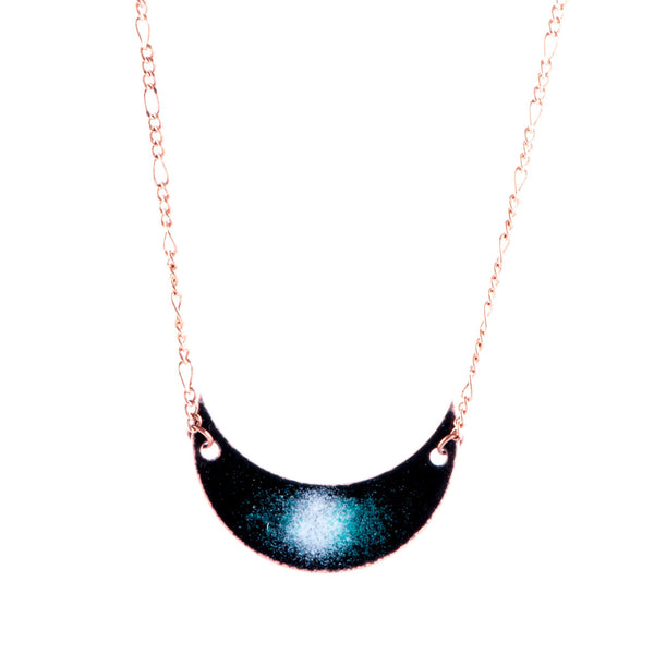Galaxy Crescent Moon Necklace