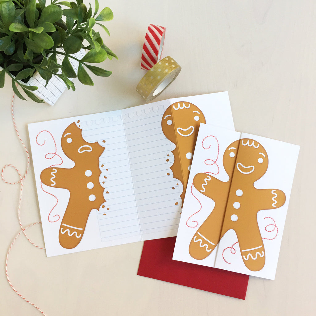 Gingerbread Unfolding Card
