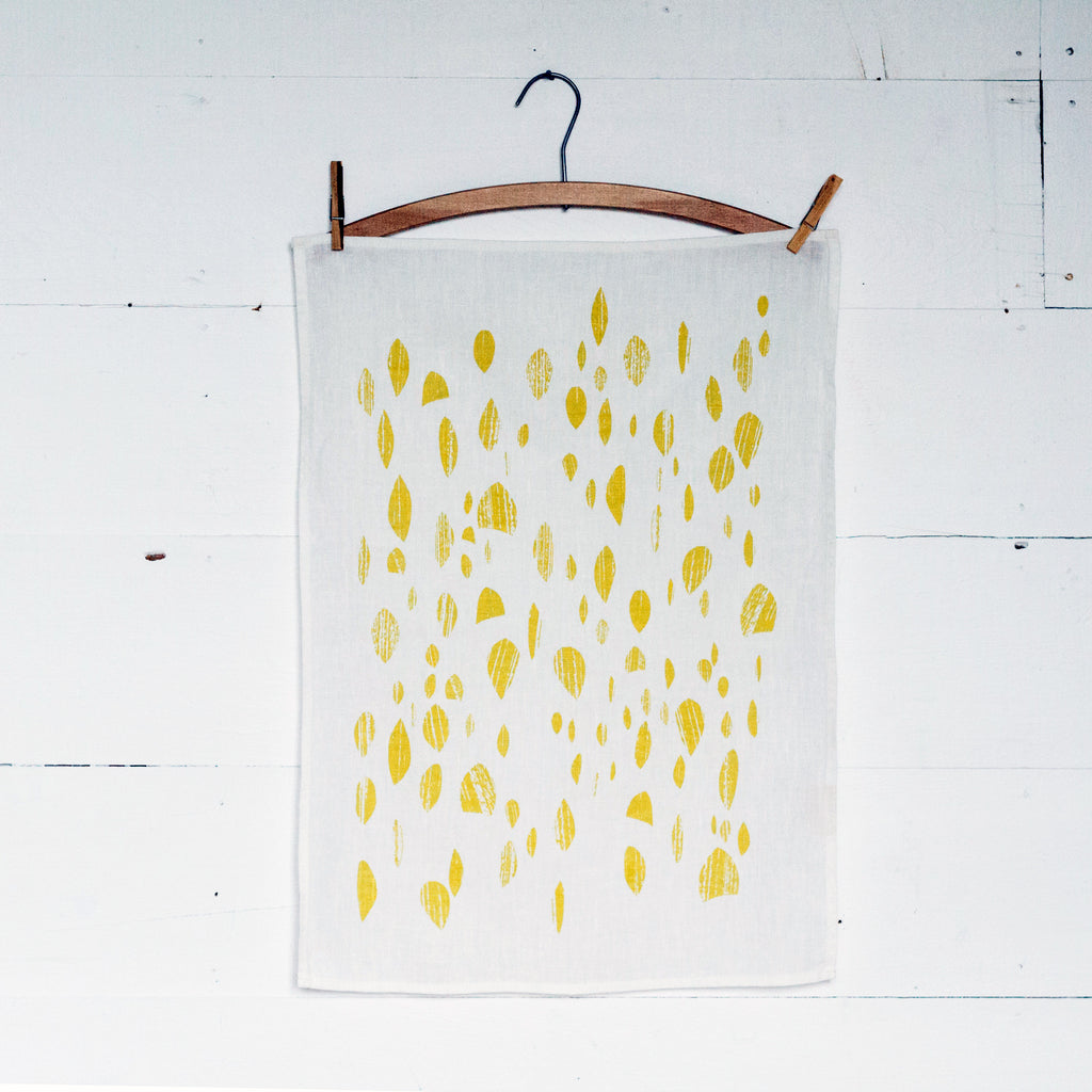 Goldenrod Drops Tea Towel