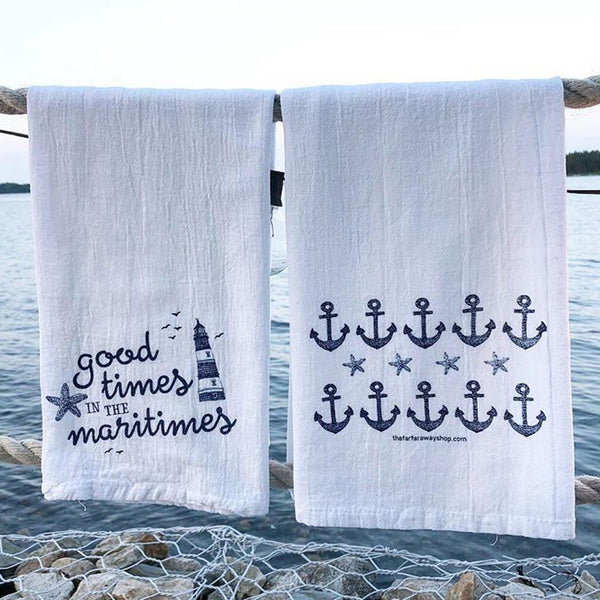 Good Times in the Maritimes Tea Towel