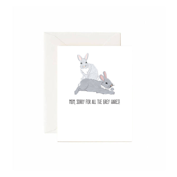 Grey Hares Mom Card