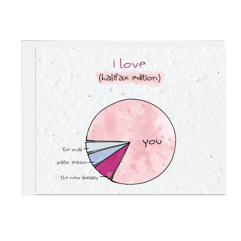 Halifax Piechart Love Seed Card