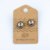 Anchor Hex Wooden Earrings