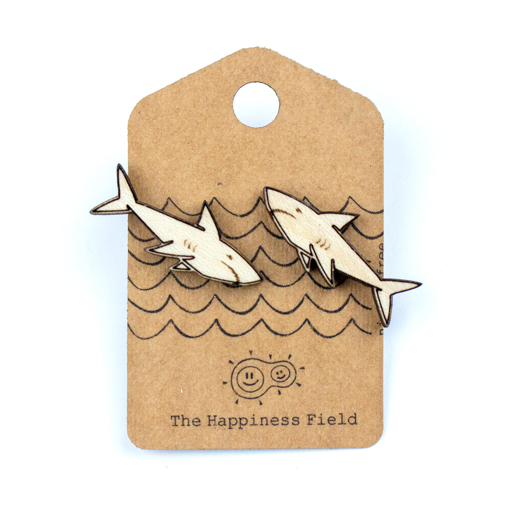 Sharks Wooden Earrings