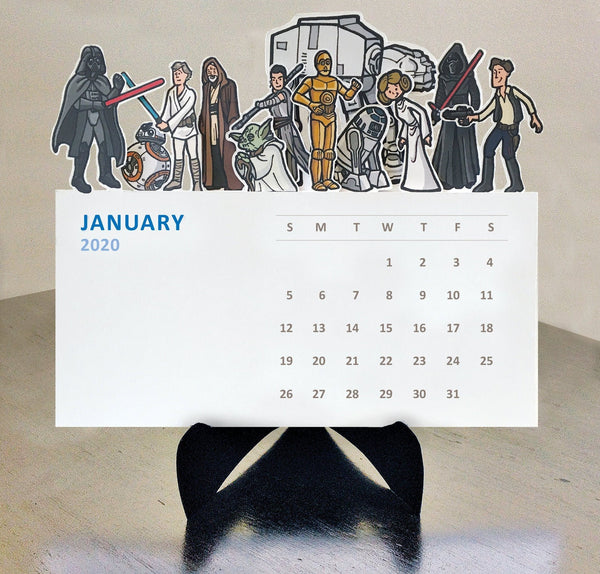 Star Wars 2020 Desk Calendar