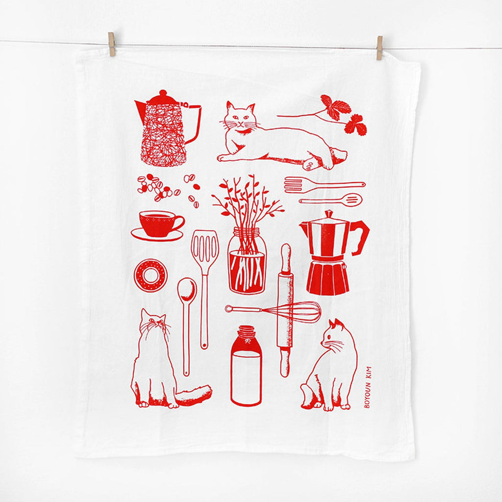 Kitchen Cat Tea Towel