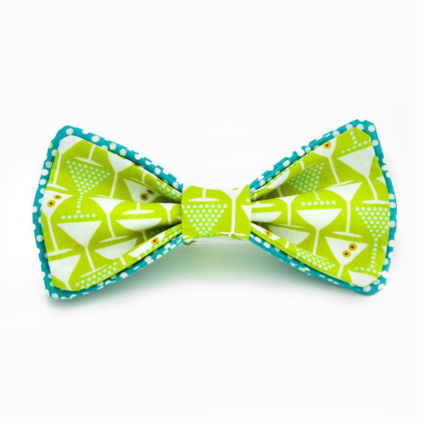 Lime Martini Bow Tie