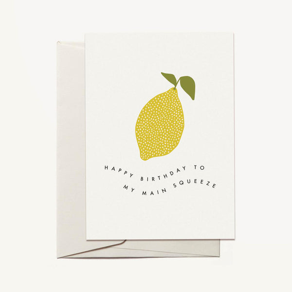 Main Squeeze Lemon Birthday Card