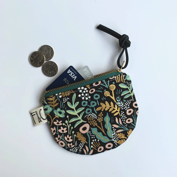 Half Moon Pouch - Midnight Garden