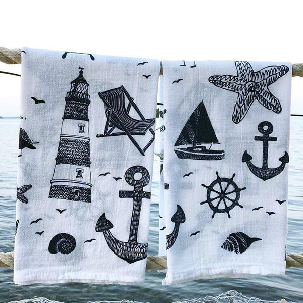 Nautical Collage Tea Towel