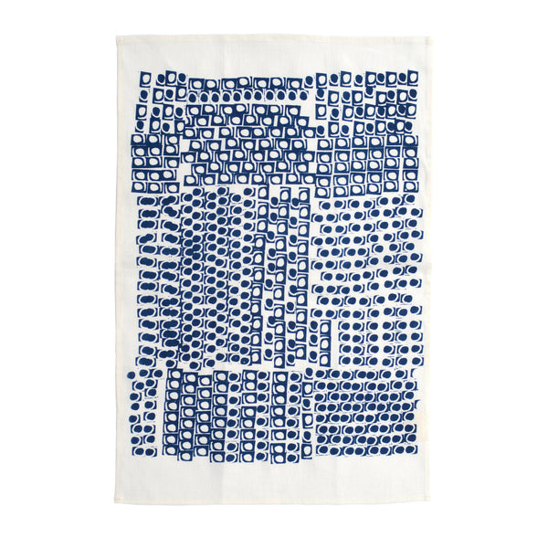 Navy Kanekt Tea Towel