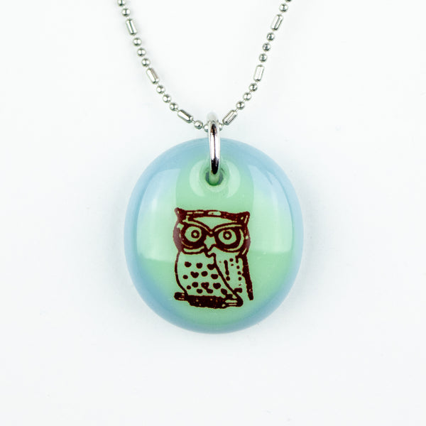 Glass Pendant - Owl