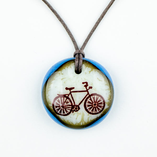 Glass Pendant - Bike