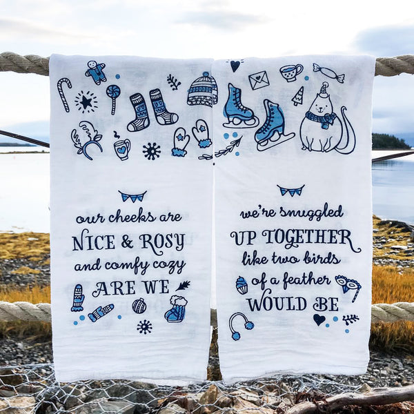 Sleigh Ride Tea Towel