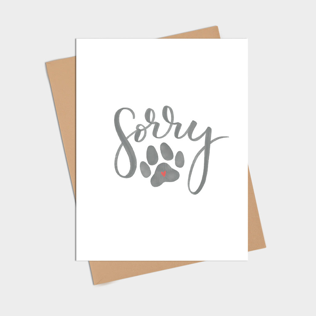 Sorry Pet Loss Card