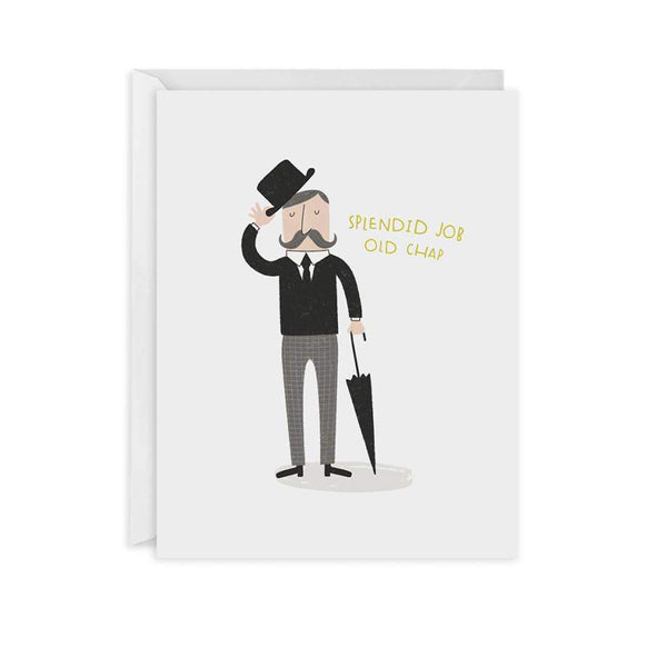 Old Chap Congrats Card