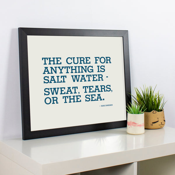 Salt Water Quote 20x16 Poster