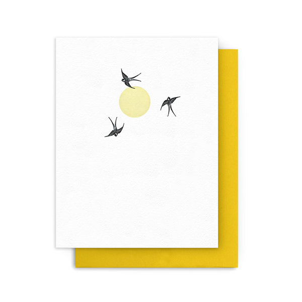 Swallows & Sun Card