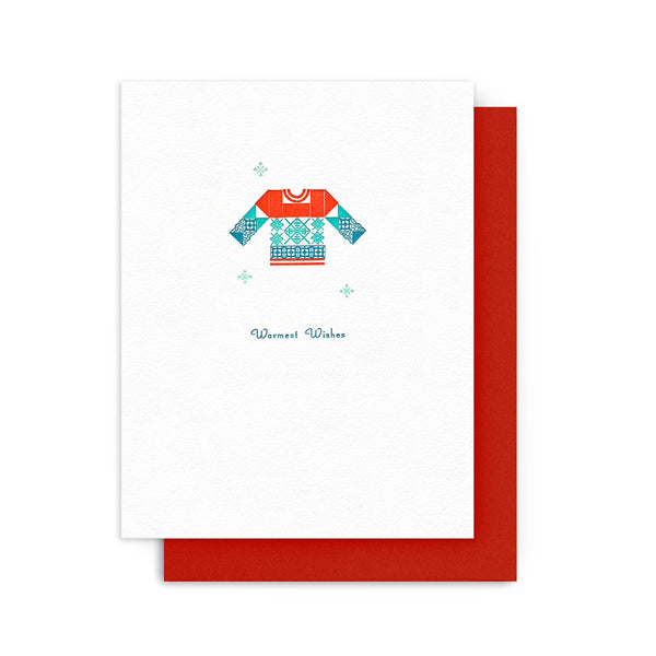 Warmest Wishes Sweater Card