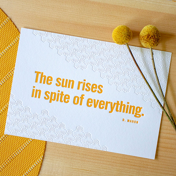 Sunrise Letterpress 5x7 Print