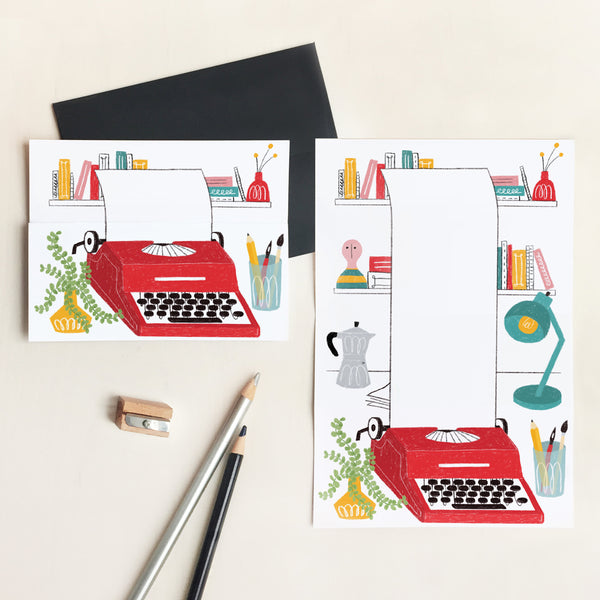 Typewriter Unfolding Card