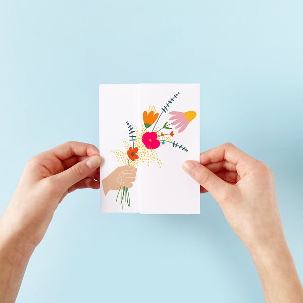 Bouquet Unfolding Card