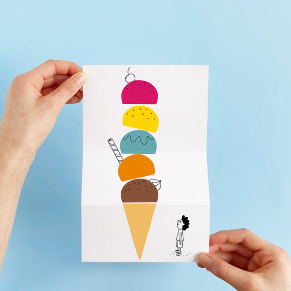 Giant Ice Cream Unfolding Card