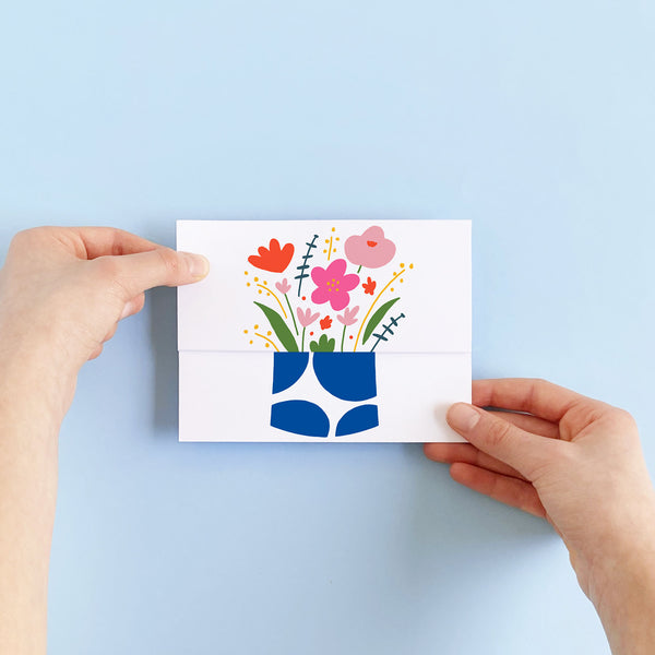 Flower Vase Unfolding Card