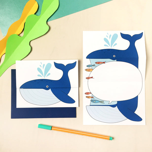 Whale Unfolding Card